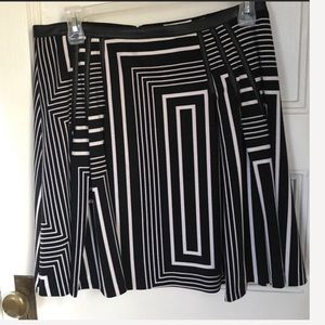 Calvin Klein ponte and faux leather skirt size 10